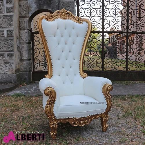 962 BAKINGG^WSINT_a Poltr.KING gold/wh.sin.87x96xH183