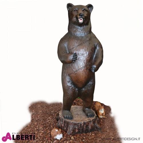 Orso in piedi in vetroresina H165 cm