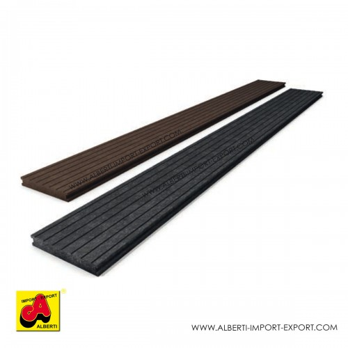 Ultra decking asse pavimento per esterno in plastica riciclata 2,7x15 cm e 3,8x15 cm