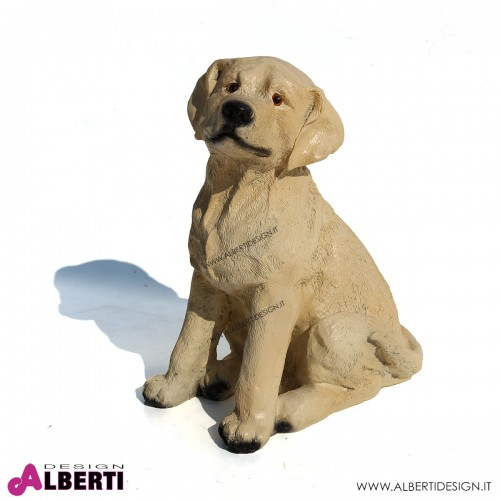 Labrador seduto in vetroresina 37 cm