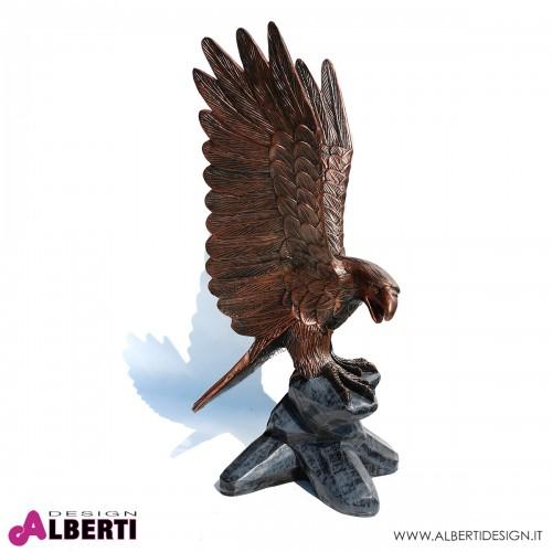 Aquila marrone in vetroresina 93 cm
