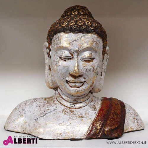 Mezzo busto Buddha terracotta H35