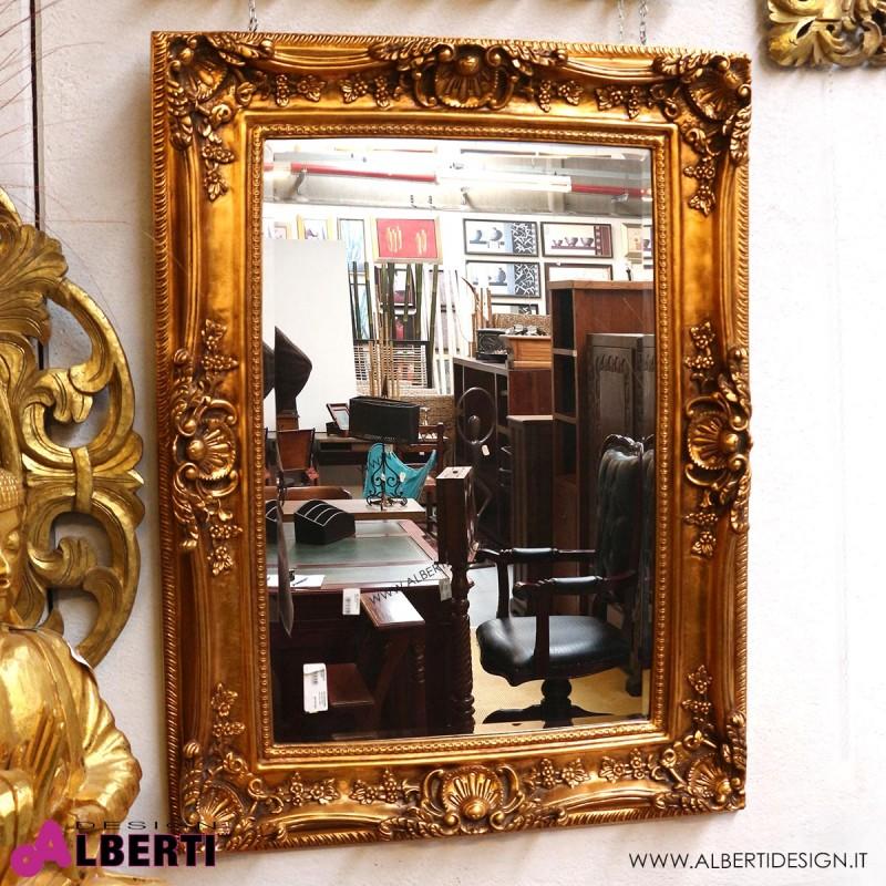 Specchio oro barocco 120x90 - Specchio cornice nera barocca ...