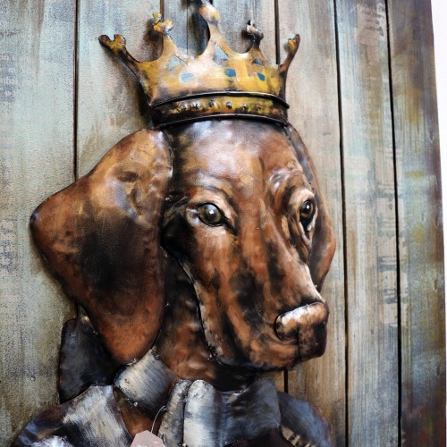 962 KA64648_b Quadro Iron Queen Dog 100x75x9cm