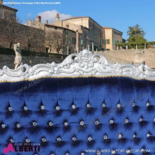 962 BAMARS^BLU_b Divano MARILYN silver/blue       velluto 212x78x174