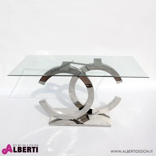 Base tavolo Glamour 2C in acciaio inox 110x50xh78 cm