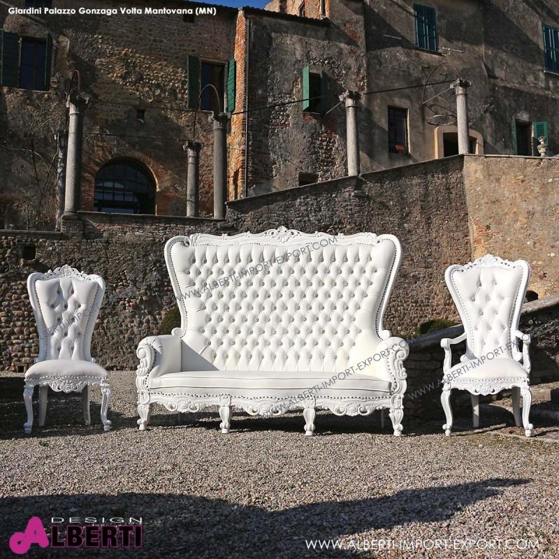 962 BAMARW^W_a Divano MARILYN white/white       pelle sintetica 212x78x174