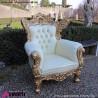 962 BAPOLGL^C_a Poltrona FRENCH gold foglia/creamtesuto c/motivo ornam. 88x83x118