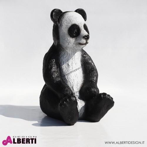Panda naturale in vetro resina 40x50xH70 cm