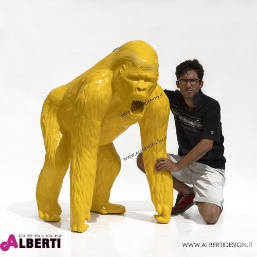 963 PLA691_a Gorilla giallo 80x110xH130 cm