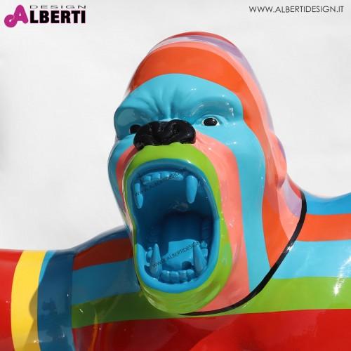 963 PLA734C_b Gorilla multicolor 120x60xH105 cm