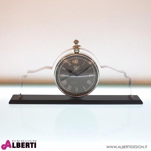 Orologio HOUR da appoggio in metallo e legno L 54 H30