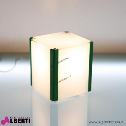 Lampada tavolo cubo Phoenix L1 verde