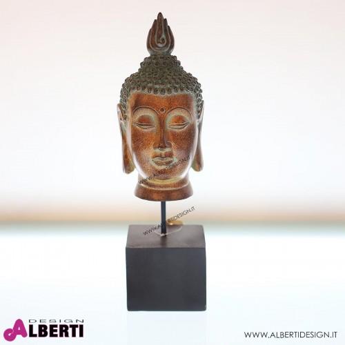 962 WU11984_a Testa Buddha su base 15x14x44 cm