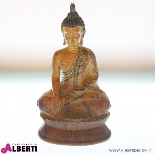 962 WU12531_a Buddha seduto poly 15x10x26 cm