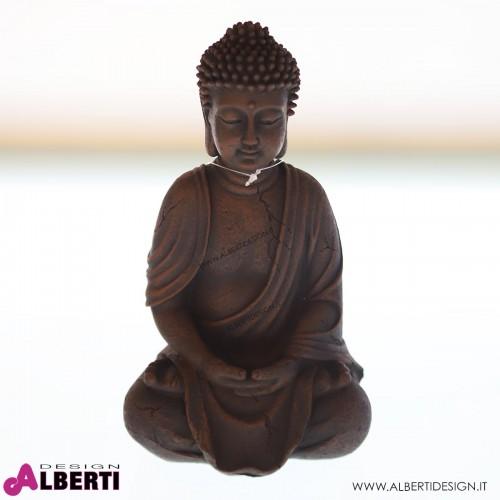 962 WU14947_a Buddha seduto poliresina 25 cm