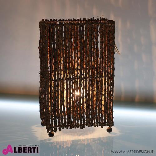 Lampada da tavolo rettangolare legnetti tropicali MANGGAR H 40