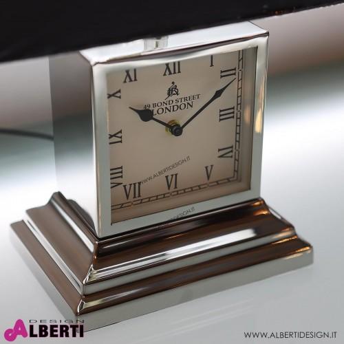 962 HK101548_b Lampada e orologio in metallo d'appoggio H 46cm