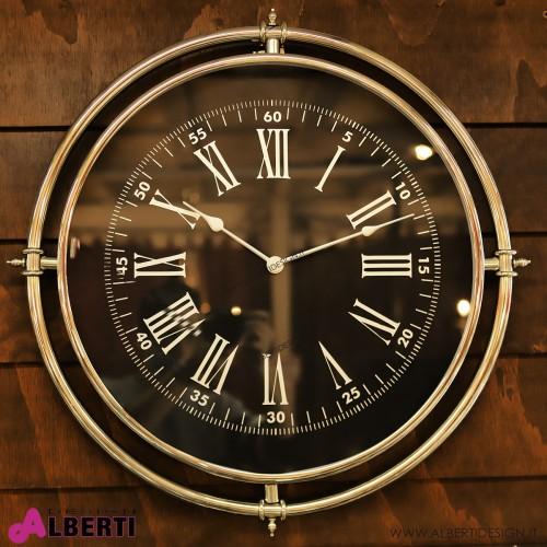 Orologio rotondo NERO con numeri romani