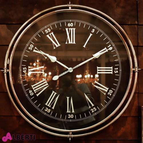 Orologio rotondo quadrante NERO lancette BIANCHE Ø 88 cm