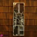 Orologio da parete quadrante NERO numeri romani BIANCHI 26x5x76 cm