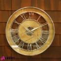 Orologio rotondo da parete in LEGNO con numeri romani Ø 60 cm