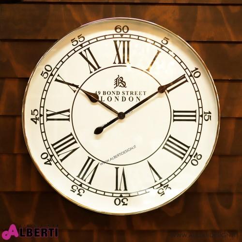 Orologio rotondo da parete con quadrante BIANCO numeri romani Ø 76 cm