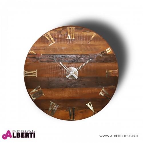 Orologio rotondo completamente in LEGNO Ø 79 cm