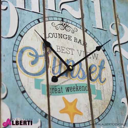 Orologio legno quadrato vintage