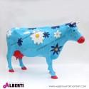 Mucca blu con fiori L258xH145