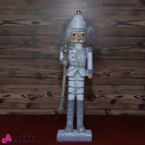 Schiaccianoci bianco in ceramica H 28 cm