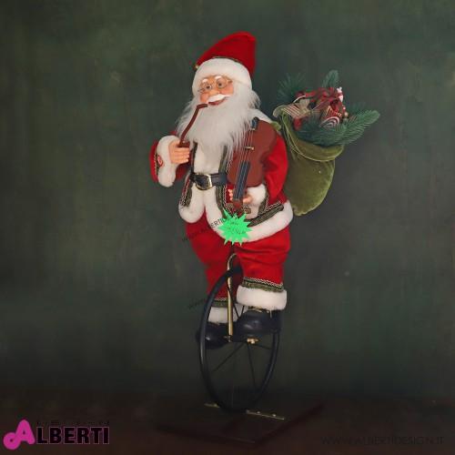 Babbo Natale ruota animato 80cm