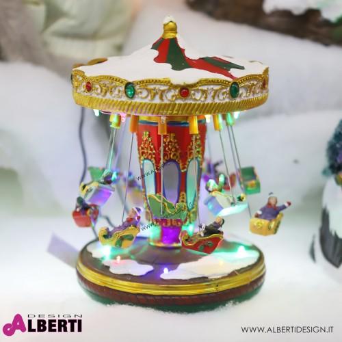 Giostra natalizia con luce e movimento H 26cm