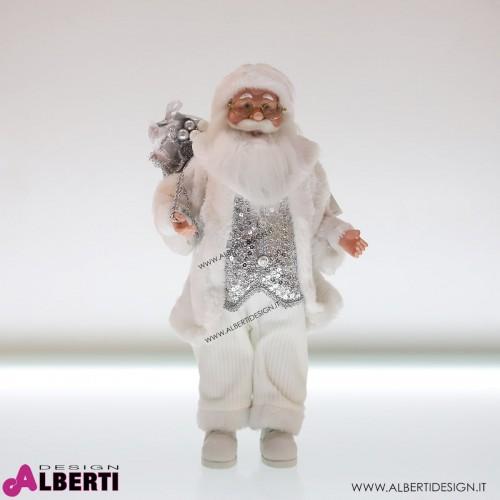 962 TT173567_a Babbo Natale in piedi bianco 45cm