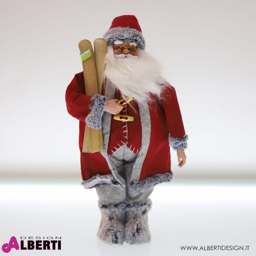 Babbo Natale rosso/grigio 57cm