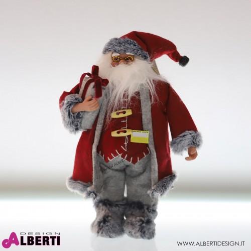 Babbo Natale rosso/grigio 37cm