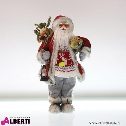 Babbo Natale in plastica e tessuto H 46cm