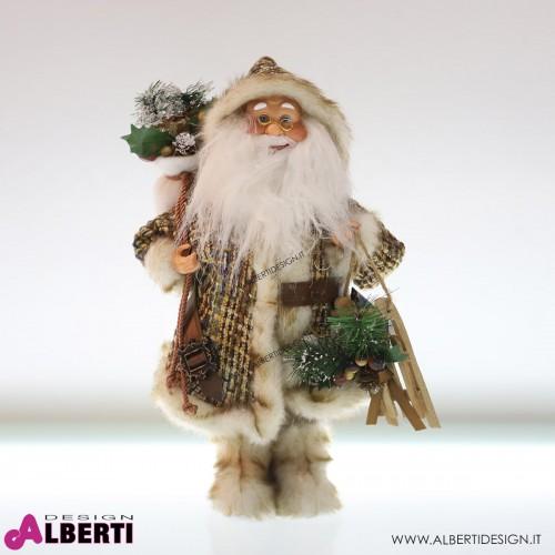 Babbo Natale in piedi beige 40cm