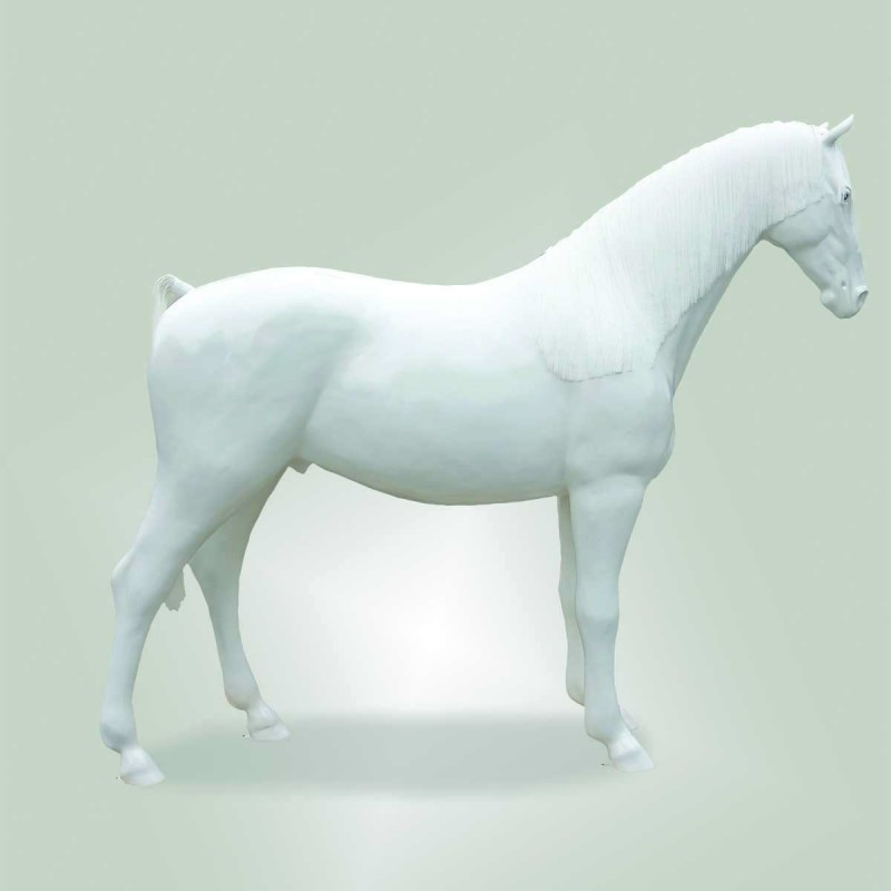 963 128GBIANCO_a Cavallo c/criniera L256H210 bianc