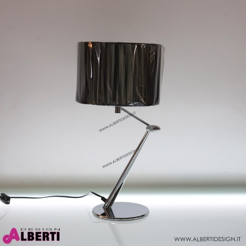Lampada moderna in metallo con paraluce nero H52 cm