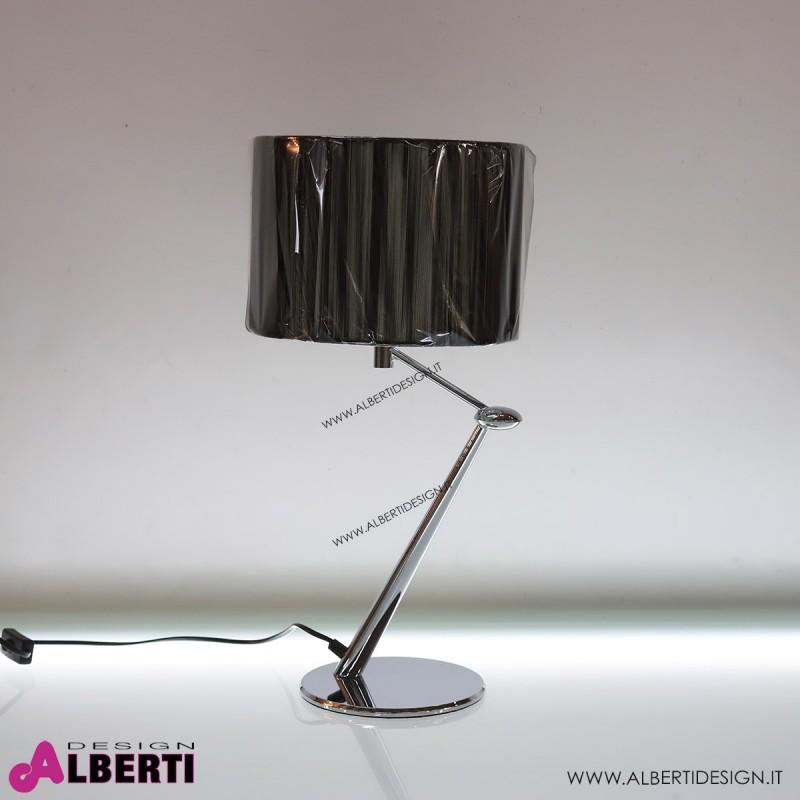 Lampada moderna c/cappel.nero H52