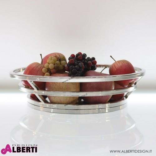 Cestino per frutta in acciaio cromato Ø 45 cm