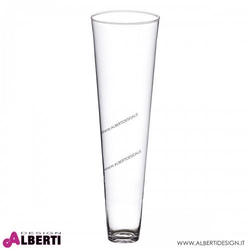 Vaso in vetro conico H70 D18 cm