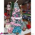 Albero di Natale in PVC innevato Megeve H240 cm