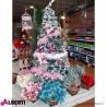 Albero di Natale innevato in PVC Morgex H210 cm