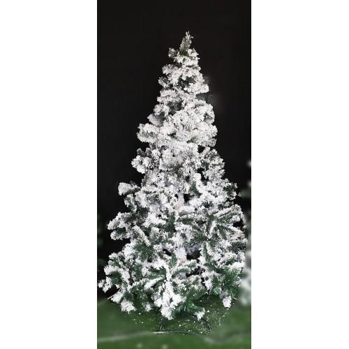 Albero di Natale innevato in PVC Megeve H180 cm