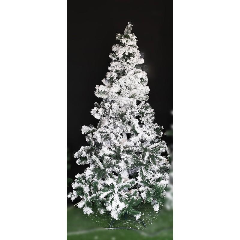 Albero di Natale innevato in PVC Megeve H210 cm