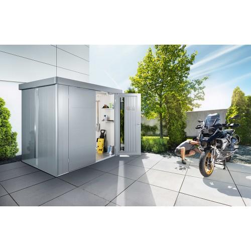 Casetta modello NEO ottimo ripostiglio dal look moderno completamente in acciaio con serratura