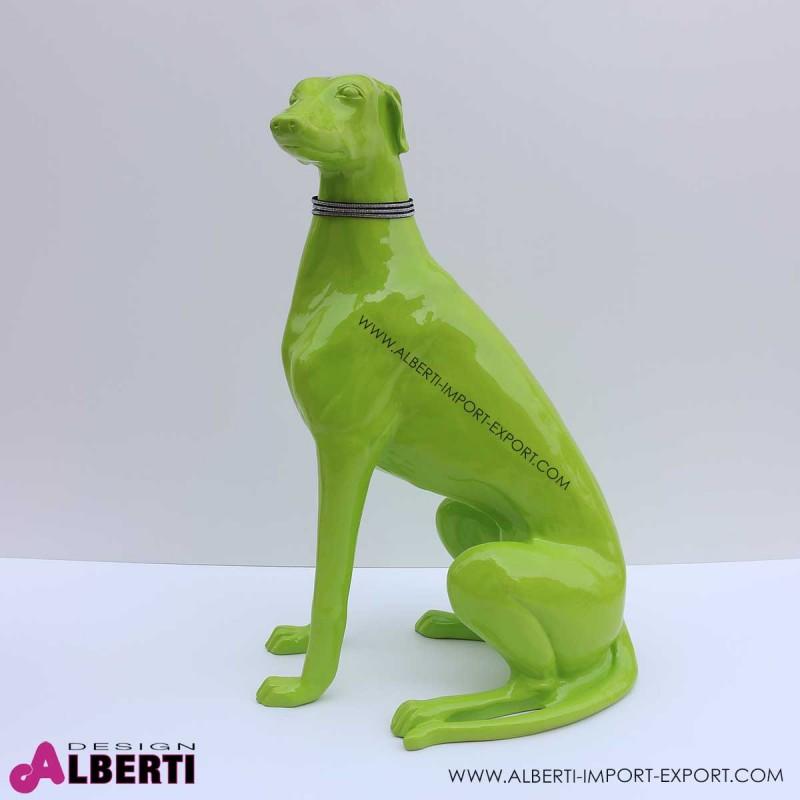963 PLA490V_a cane levriero verde 80x55x35cm