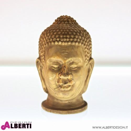 Testa Buddha legno D17 H26
